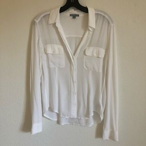 James Perse Utility Crepe Button-down size 2